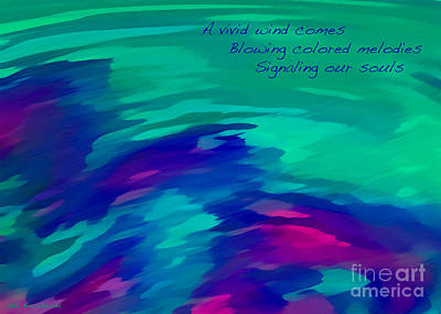 Digital Art - Vivid Wind Haiku by ME Kozdron