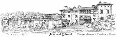 Vizcaya For Jane And Edward Art Print by Building  Art