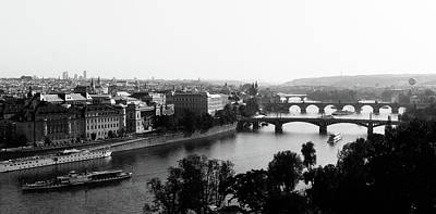 Vltava Photograph - Vltava River At Prag by Jörg Wendland