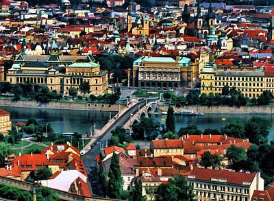 Vltava River Painting - Vltava River Prague by Dean Wittle