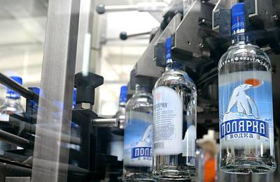 Vodka Bottling Machine Print by Ria Novosti