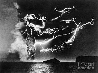 Photograph - Volcanic Lightning, 1963 by Granger