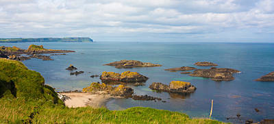 Photograph - Volcanic Rock Formations In Ballintoy Bay by Semmick Photo