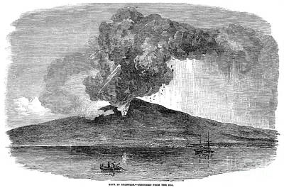 Photograph - Volcano: Etna, 1852 by Granger