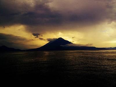 Panajachel Photograph - Volcano Guatemala by Bryan Bolvito
