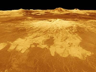 Venusian Photograph - Volcano Named Sapas Mons On Venus. This by Everett
