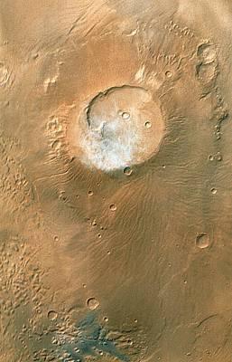 Volcano On Mars Print by Nasa