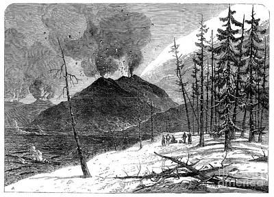 Photograph - Volcanoes: Mt. Etna, 1865 by Granger