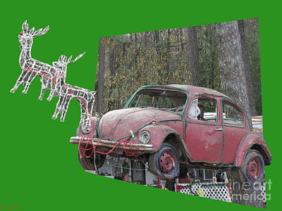 Photograph - Volkswagen Christmas 3d by Donna Brown