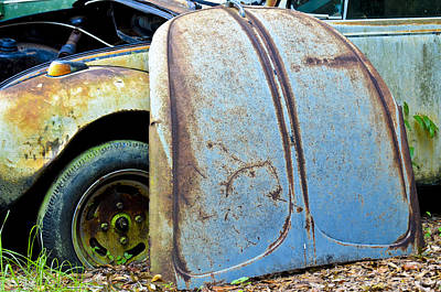 Photograph - Volkswagen Hood by Carolyn Marshall
