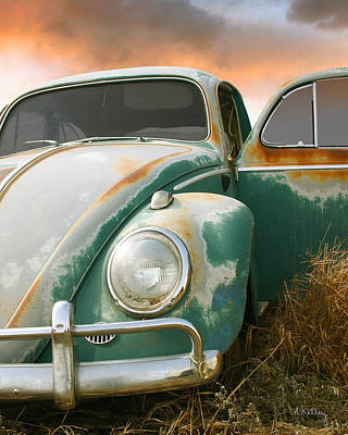 Photograph - Volkswagon Beetle by Andrea Kelley