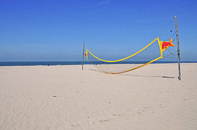 Volleyball Photograph - Volleyball Net On Beach by Leuntje
