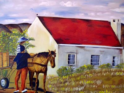 Karoo Painting - volmoed near Oudtshoorn RSA by Yolande Havenga