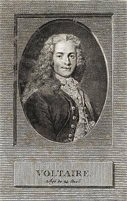 Voltaire, French Author Art Print by Middle Temple Library