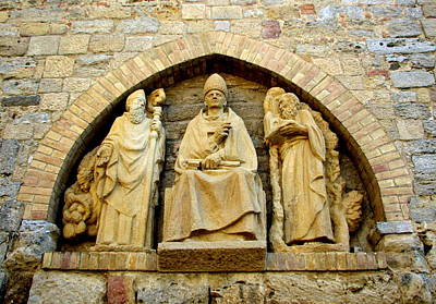 Photograph - Volterra Carving by Carla Parris