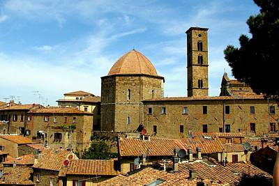 Photograph - Volterra Skyline by Carla Parris