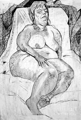 Voluptuous Nude Sleeping  Print by Joanne Claxton