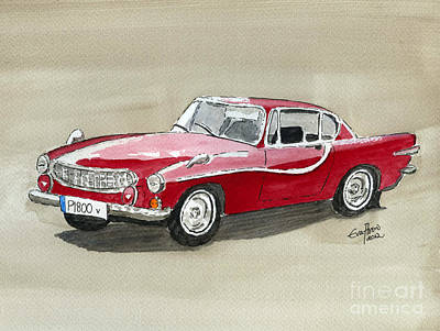 Painting - Volvo P1800 by Eva Ason
