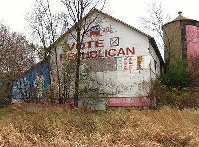 Photograph - Vote Republician by Todd Sherlock