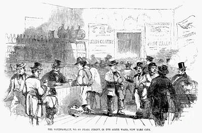 Ballot Wall Art - Photograph - Voting In New York, 1858 by Granger