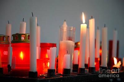 Votive Candles Art Print by Gaspar Avila