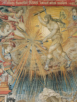 Tapestries Textiles Photograph - Vulcan, God Of Fire by Photo Researchers