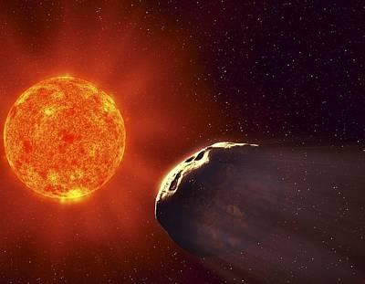 Vulcanoid Asteroid And Sun, Artwork Art Print