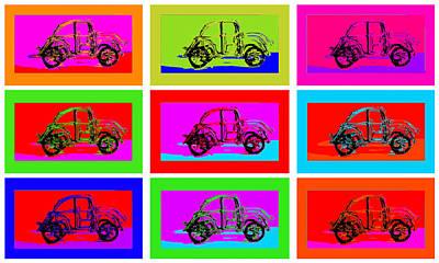 Studio Grafika Vintage Posters - VW Beatle 1b by Mauro Celotti