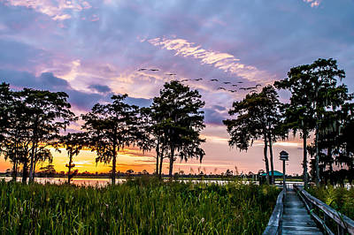 Photograph - Waccamaw River Sunset by Mike Covington