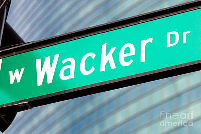 Wacker Drive Street Sign Chicago Art Print by Paul Velgos