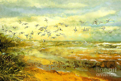 North Sea Painting - Wadden Sea by Anne Weirich