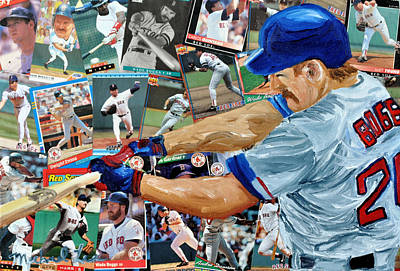 Red Sox Hall Of Fame Mixed Media - Wade Boggs by Michael Lee