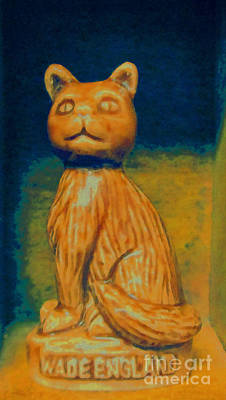 Mixed Media - Wade England Cat by Patricia Januszkiewicz