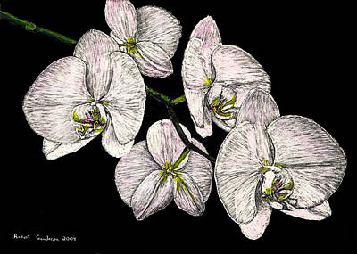 Painting - Wade's Orchids by Robert Goudreau
