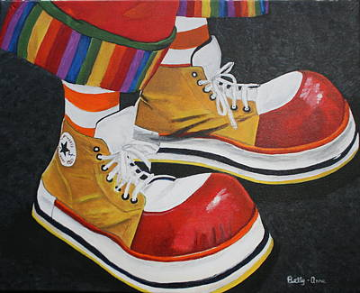 Waffle's Shoes Art Print by Betty-Anne McDonald