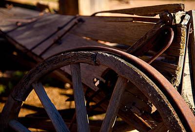 Mining Photograph - Wagon Dreams by Jephyr Art