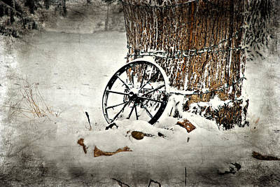 Wagon Wheel 1 Art Print by Janice Adomeit