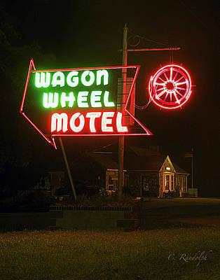 Photograph - Wagon Wheel Motel by Cheri Randolph