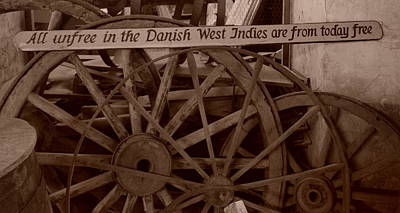 Wagon Wheels Of St. Croix Art Print by Dennis Stein