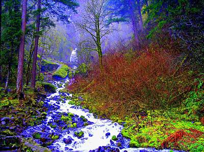 Photograph - Wahkeena Falls Oregon by Lisa Rose Musselwhite