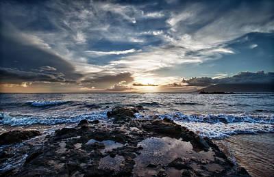 Print featuring the photograph Wailea Sunset by John Maffei