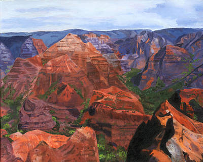 Painting - Waimea Canyon by Lynne Reichhart