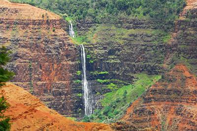 Photograph - Waimea Canyon Waterfall by Lynn Bauer