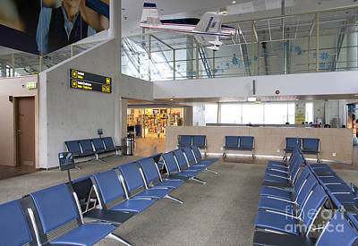 Airport Concourse Photograph - Waiting Area At An Airport Gate by Jaak Nilson
