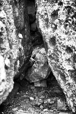 Waiting Behind The Rocks Art Print by John Rizzuto