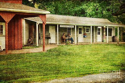 Waiting By The General Store Print by Paul Ward