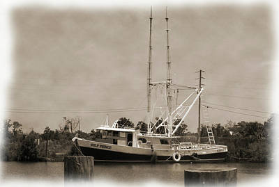 Photograph - Waiting For Shrimp Season by Barry Jones