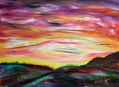 Prairie Painting - Waiting For Spring by James Bryron Love