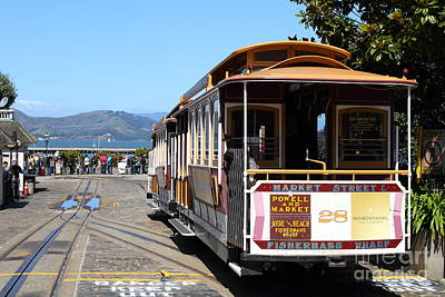 Waiting For The Cablecar At Fishermans Wharf . San Francisco California . 7d14099 Art Print by Wingsdomain Art and Photography