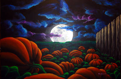Painting - Waiting For The Great Pumpkin by Michael Ivy